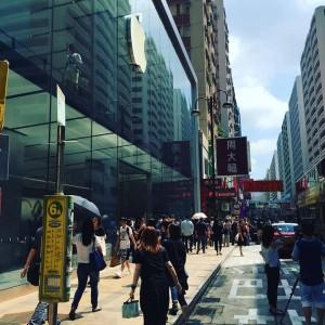 iPhone 6s発売日のアップルストア(広東道)前。 拍子抜けするほどいつもどおり